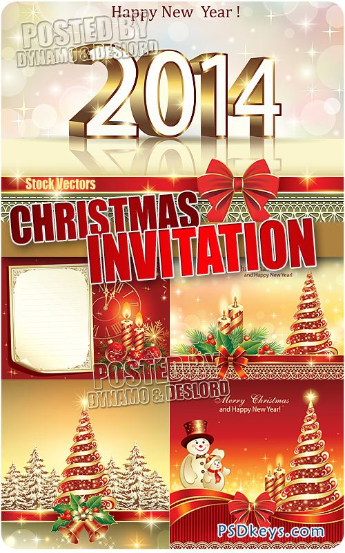 Christmas invitation - Stock Vectors