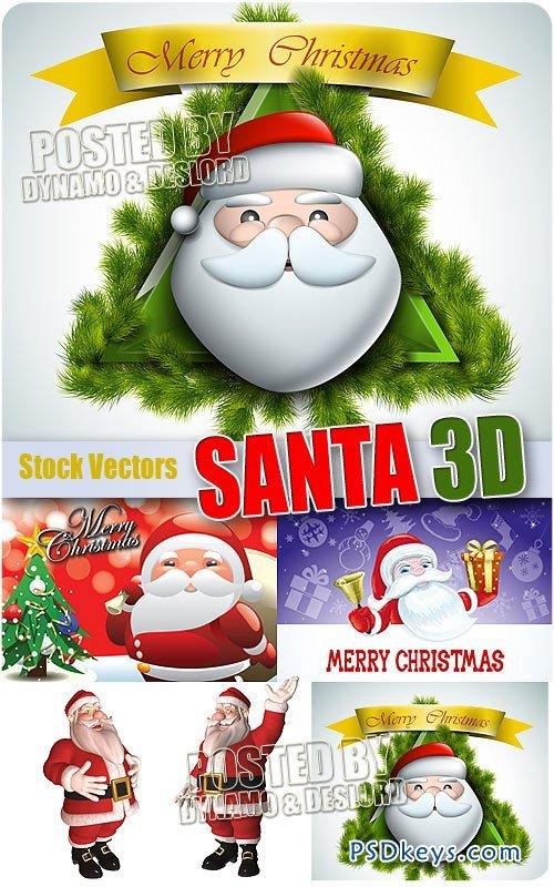 Santa 3D - Stock Vectors