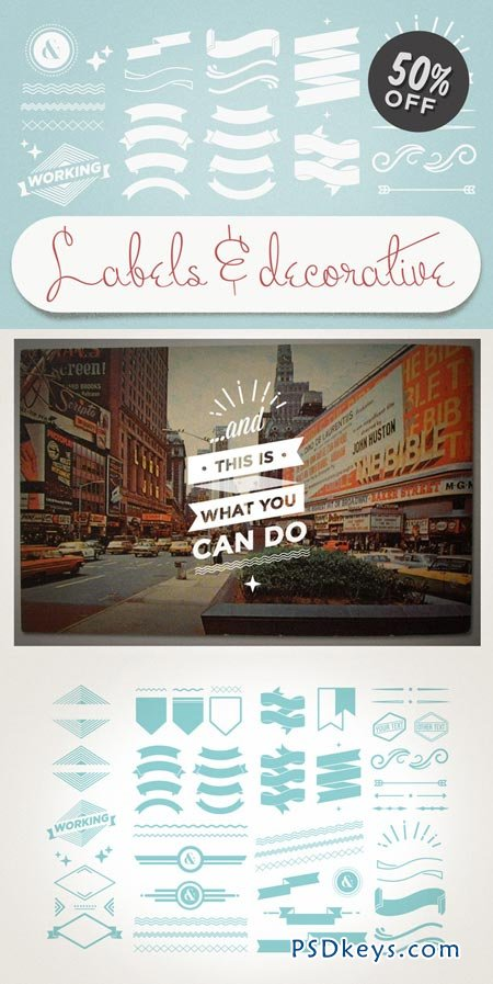 Labels & Decorative Vectors 3340