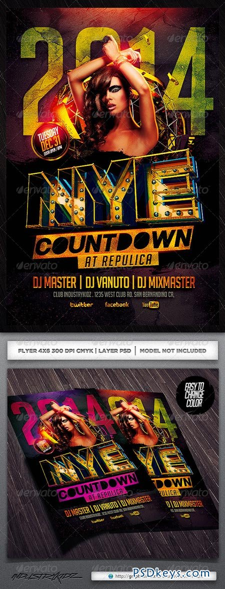 New Year Flyer Template 6036560