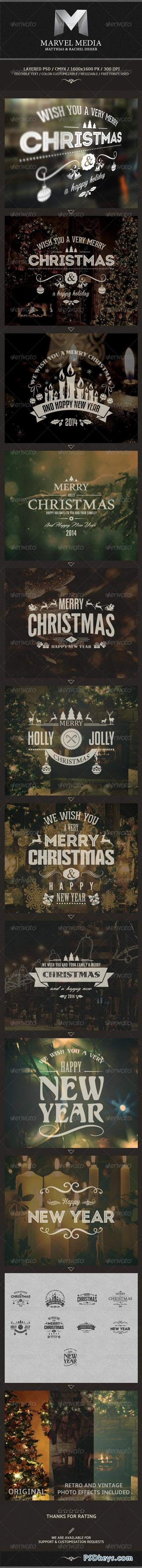 Christmas And New Year Labels 6102211
