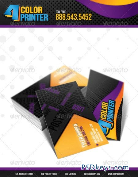 4 Color Printing Business Card 3477224