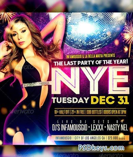 New Years Social Media Flyer 6373199