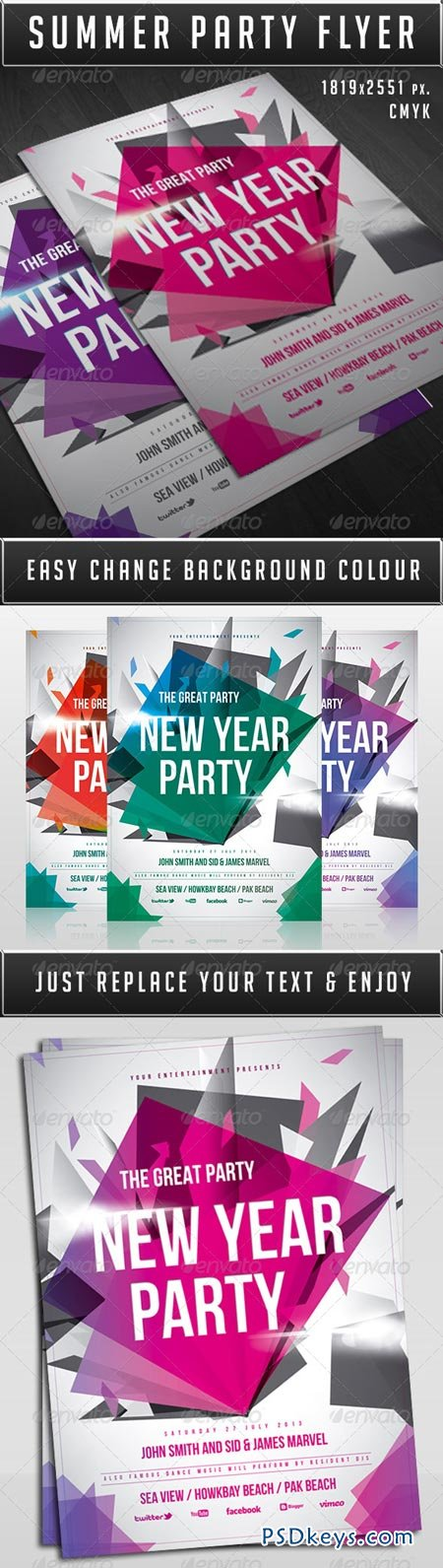 New Year Party Flyer 6412966