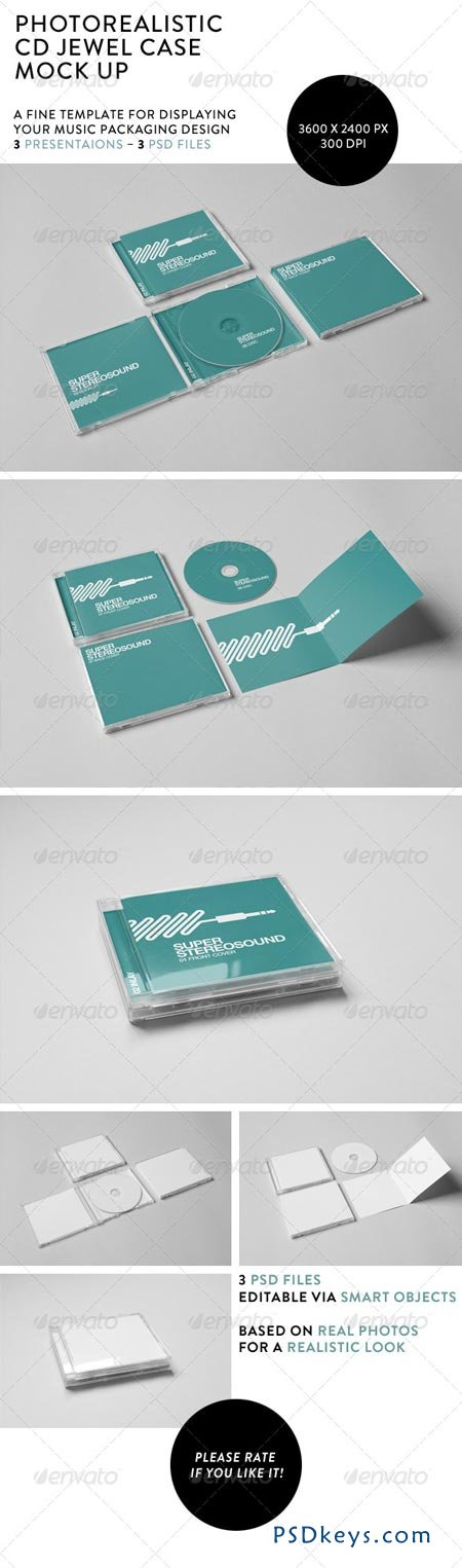 Realistic Cd Jewel Case MockUp   Free Download Photoshop