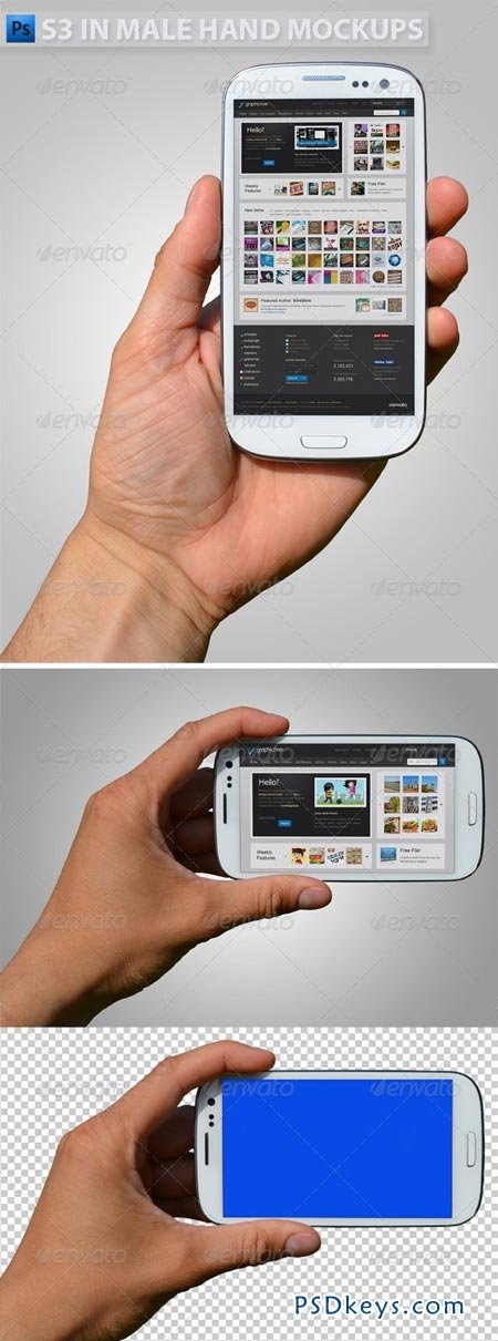 GraphicRiver S3 in Hand Mock-ups
