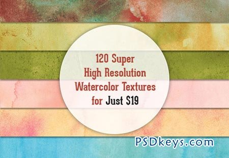 120 Super High Resolution Watercolor Textures
