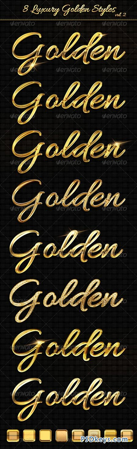 8 Luxury Golden Text Styles vol2 6322949