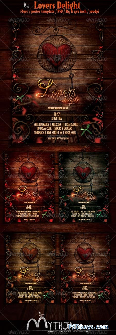 Lovers Delight - Valentines Event Flyer Poster 3797208