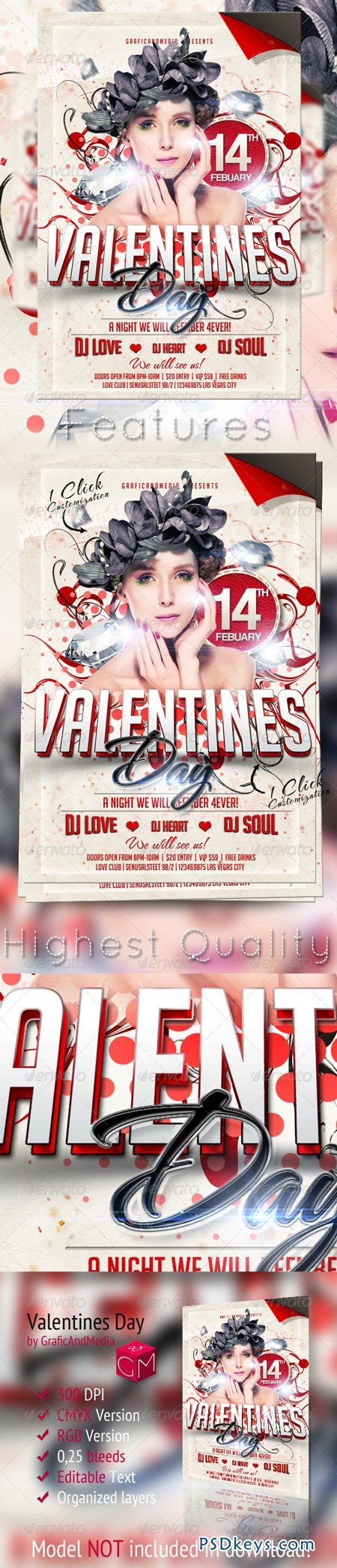 Valentines Day Flyer Template 3731131