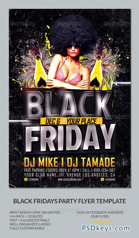 Black Friday Party Flyer Template 6483496