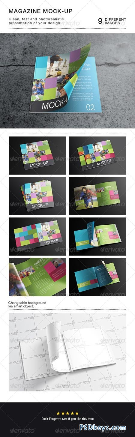 Square Magazine Catalog Mock-Up 6452162