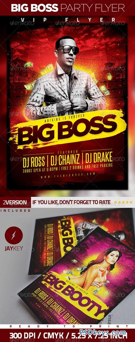Big Boss Party Flyer 6289681