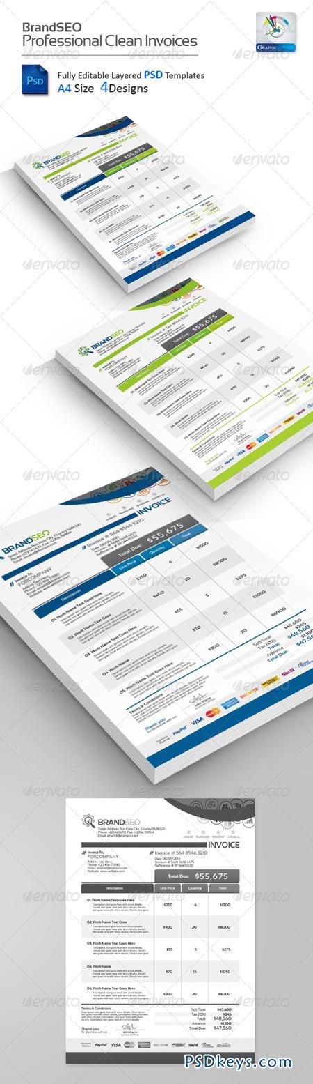 BrandSEO Creative PSD Invoices 4400525