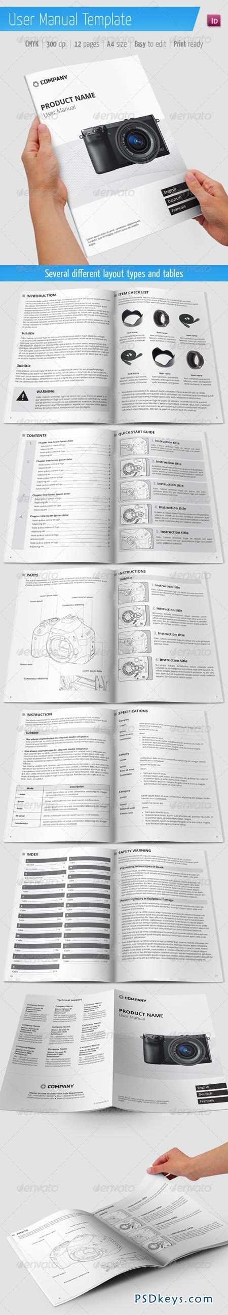 User Manual Template 6477700 » Free Download Photoshop Vector Stock ...