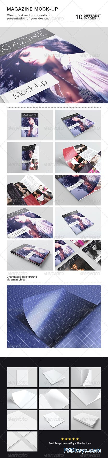 Photorealistic A5 A4 Magazine Mock-up 6393358