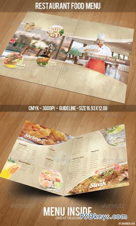 Restaurant Food Menu Template 4265318