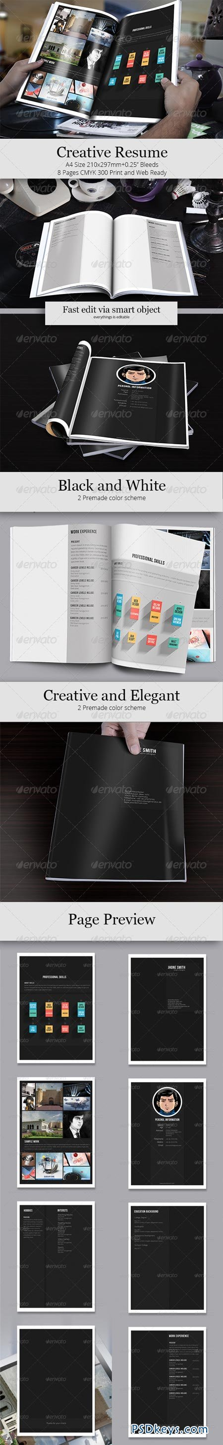 creative resume template 6430195  u00bb free download photoshop vector stock image via torrent