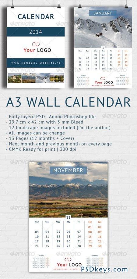 Wall Calendar 2014 - A3 6401622