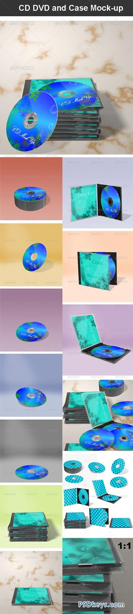 CD DVD and Case Mock-up 6391424