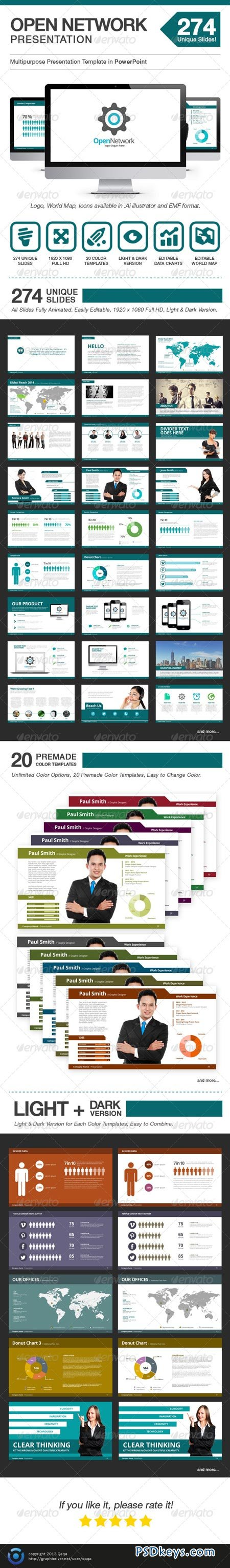 Open Network Presentation - Power Point Template 6485998