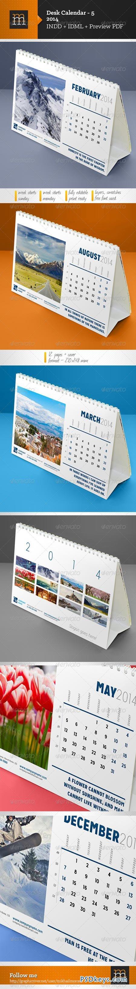 Desk Calendar-5 2014 6402761