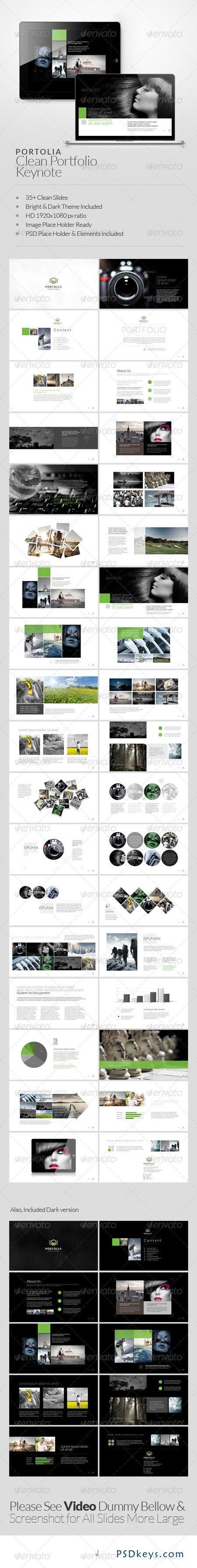 Portolia Multipurpose Clean Portfolio Keynote 6452302