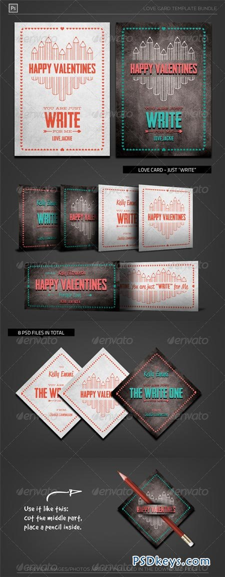 Valentine Love Card - Just Write for Me 6500511
