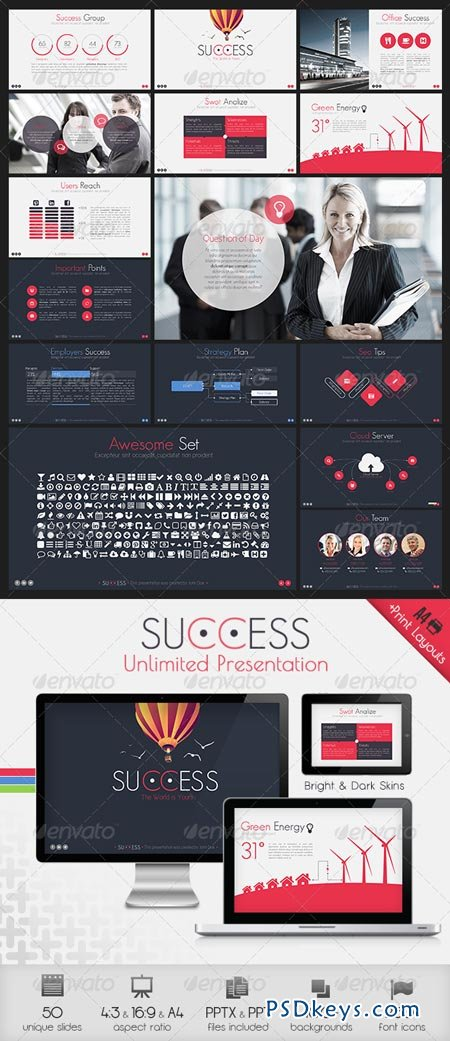 Success Powerpoint Presentation Template 6429193