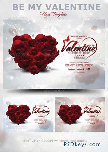 be my valentine flyer template 3737558 free download photoshop