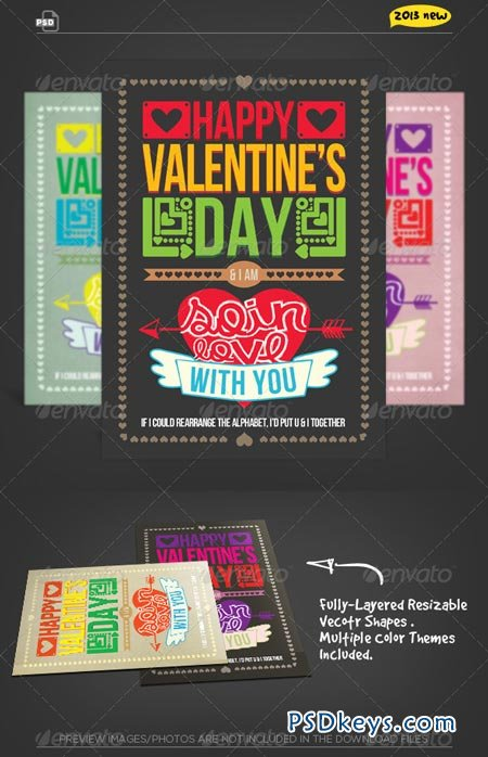 Valentine Card - So in Love Typography 1203488