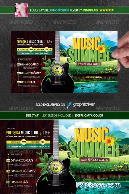 Summer Music Poster Flyer 4949610