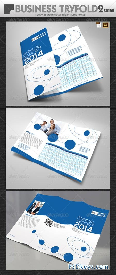 Business Report TriFold Design 6507119
