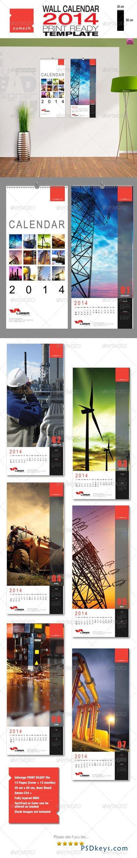 Corporate Wall Calendar 2014 - Portrait 6349479 » Free Download ...