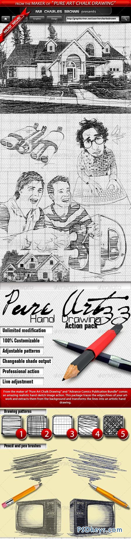 Pure Art Hand Drawing 33 – Italian Architect Art 5423059
