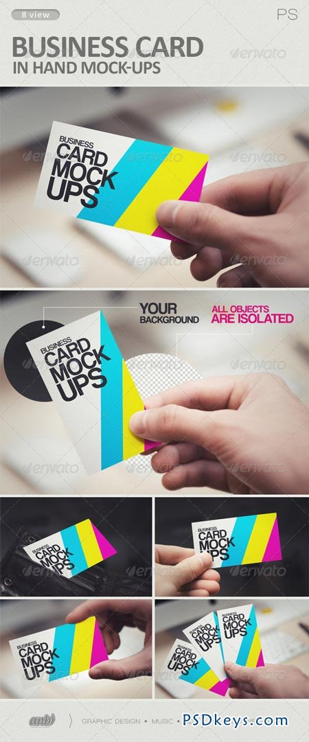 Business Card in Hand Mock-Ups 6199666