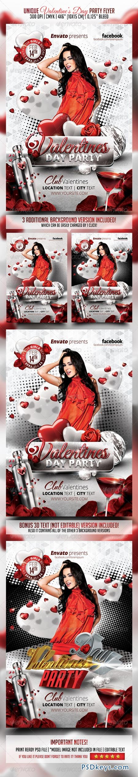Valentines Day Party Flyer 6479980