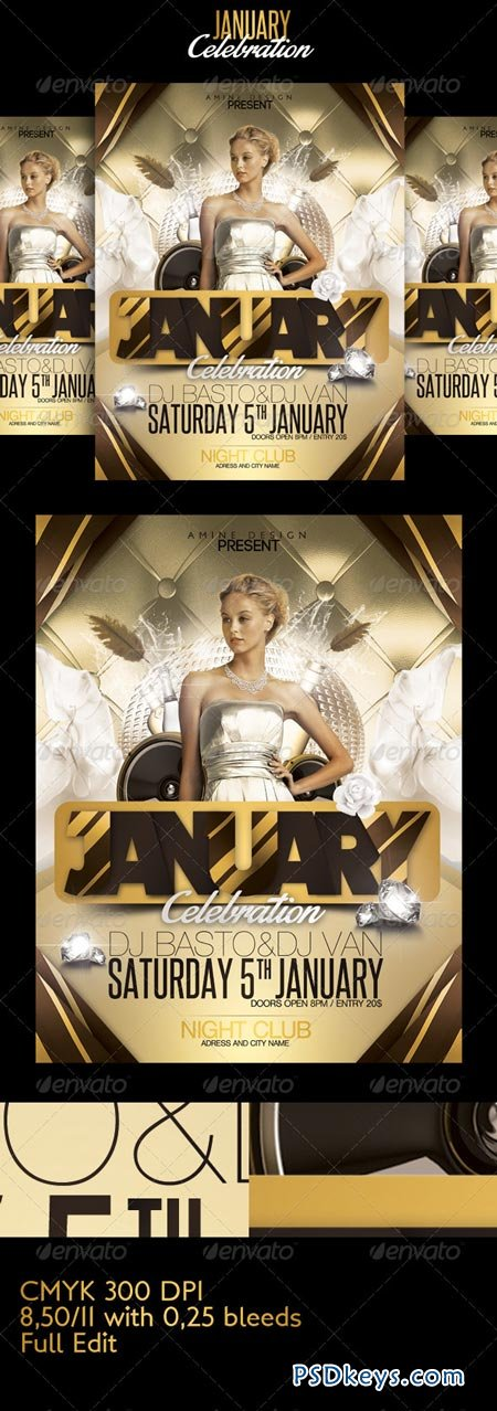 January celebration flyer 6485009