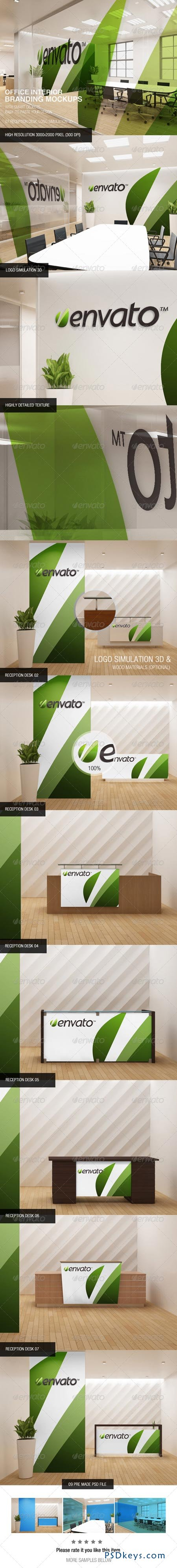 Office Interior Branding Mockups 6536196