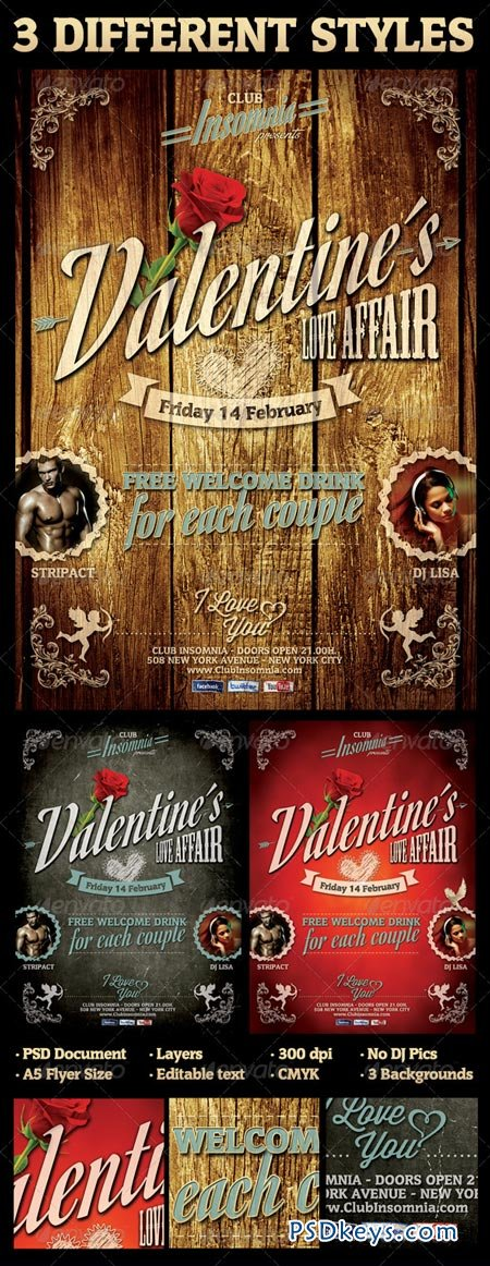 Valentine's Party Flyer 6532450