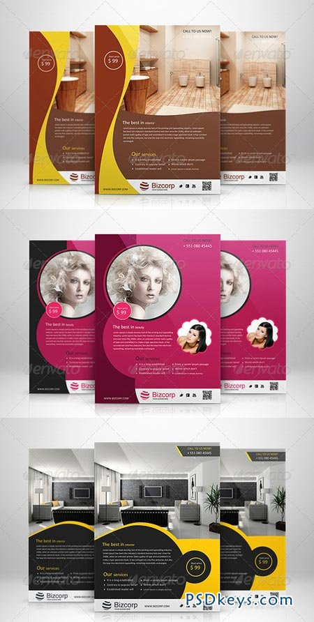 Corporate Flyers Bundle Vol 9 6563420