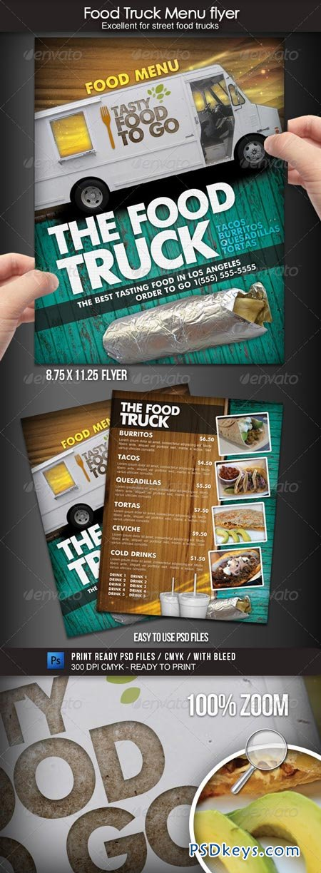 Food Truck Menu Flyer 1700119