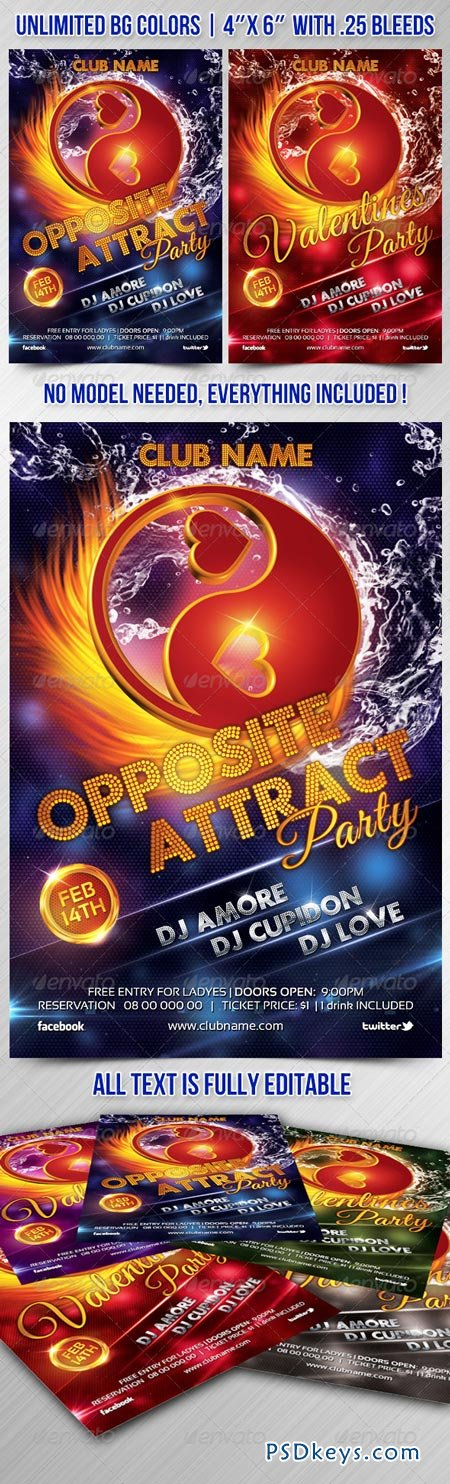 Valentines Opposite Attract Flyer 6564359
