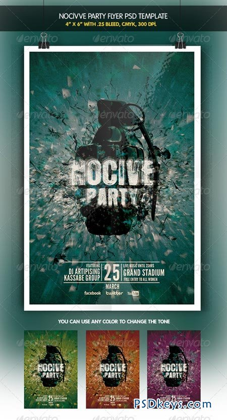 Nocive Party Night Flyer 6412478