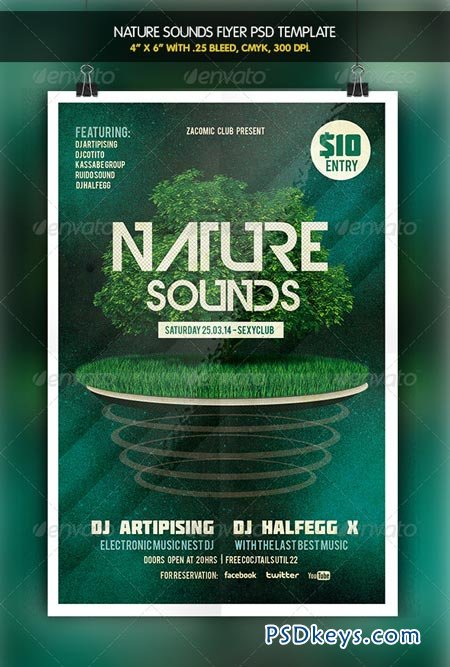 Nature Sounds Party Flyer 6412581 » Free Download Photoshop