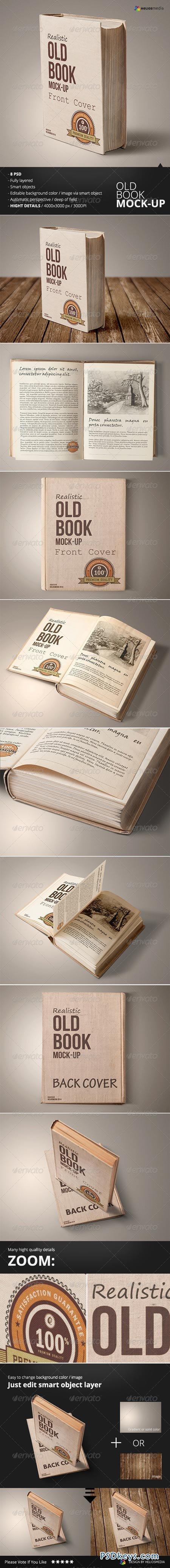Old Book Mockup 6553642