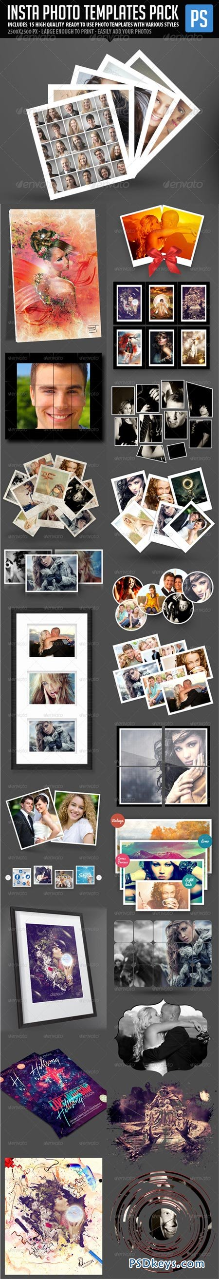 Insta Photo Templates Pack (23in1) 6063139