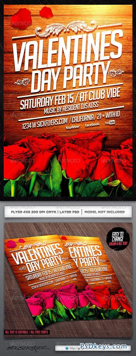 Valentine's Day Flyer Template 6665812