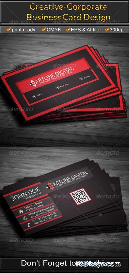 Corporate Business Card 6675021