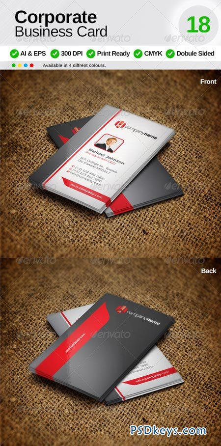 Corporate Business Card 18 6666007